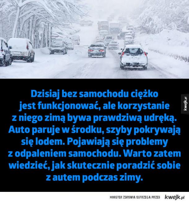 Triki dla kierowców, którym zima nie straszna! - Dzisiaj bez samochodu ciężko  jest funkcjonować, ale korzystanie  z niego zimą bywa prawdziwą udręką.  Auto paruje w środku, szyby pokrywają  się lodem. Pojawiają się problemy  z odpaleniem samochodu. Warto zatem wiedzieć, jak skutecznie poradzić sobie  z