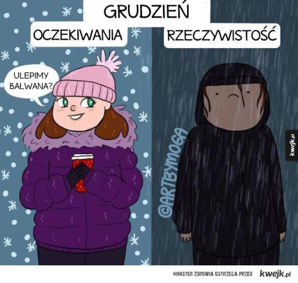 Porcja komiksów idealnie podsumowujących zimę