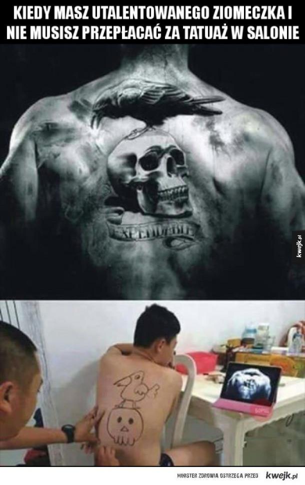 Tatuaż zrobiony przez znajomego