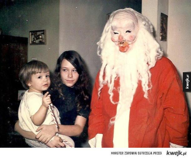 Dziwne rodzinne zdjęcia świąteczne