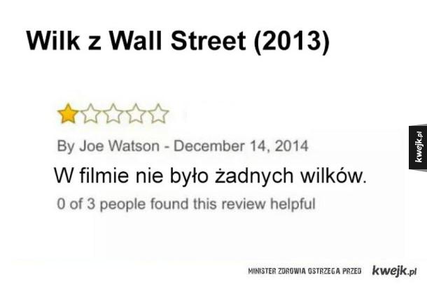 Użytkownicy Amazona piszą najlepsze recenzje filmów