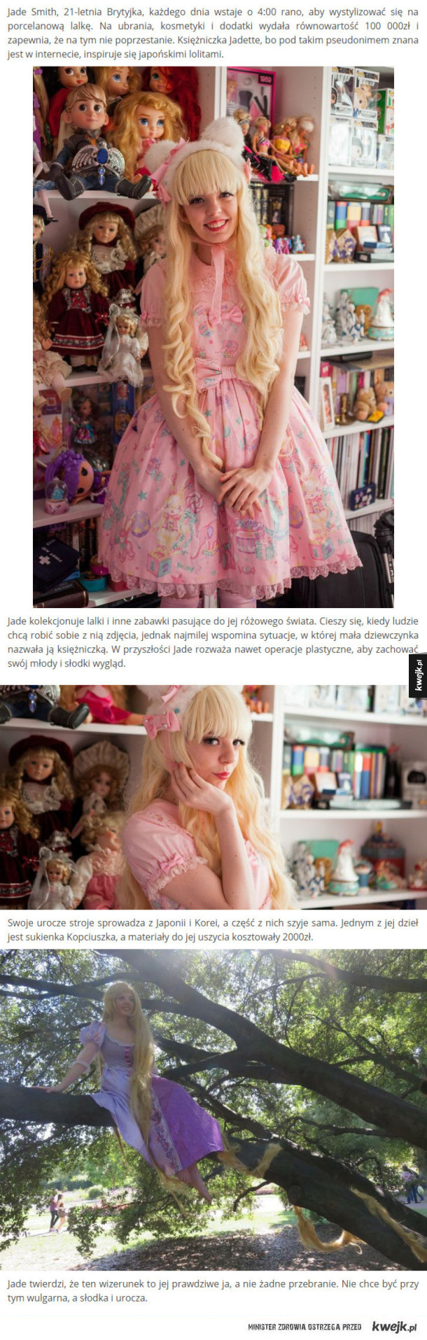 Wydała 100 000zł aby upodobnić się do lalki