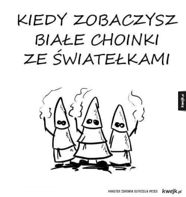 Białe choinki
