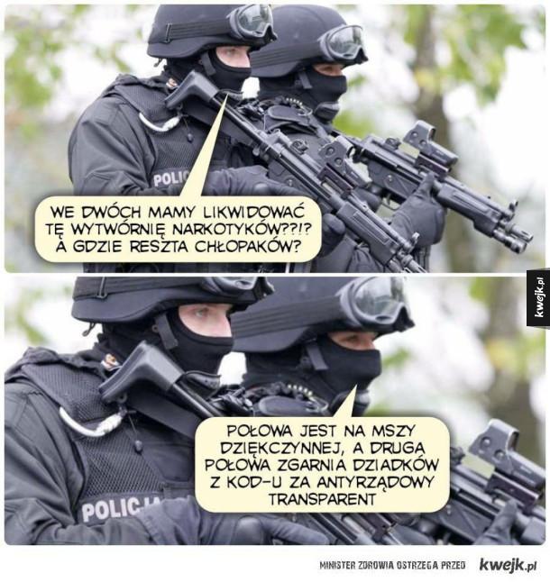 Ciężka sytuacja w policji