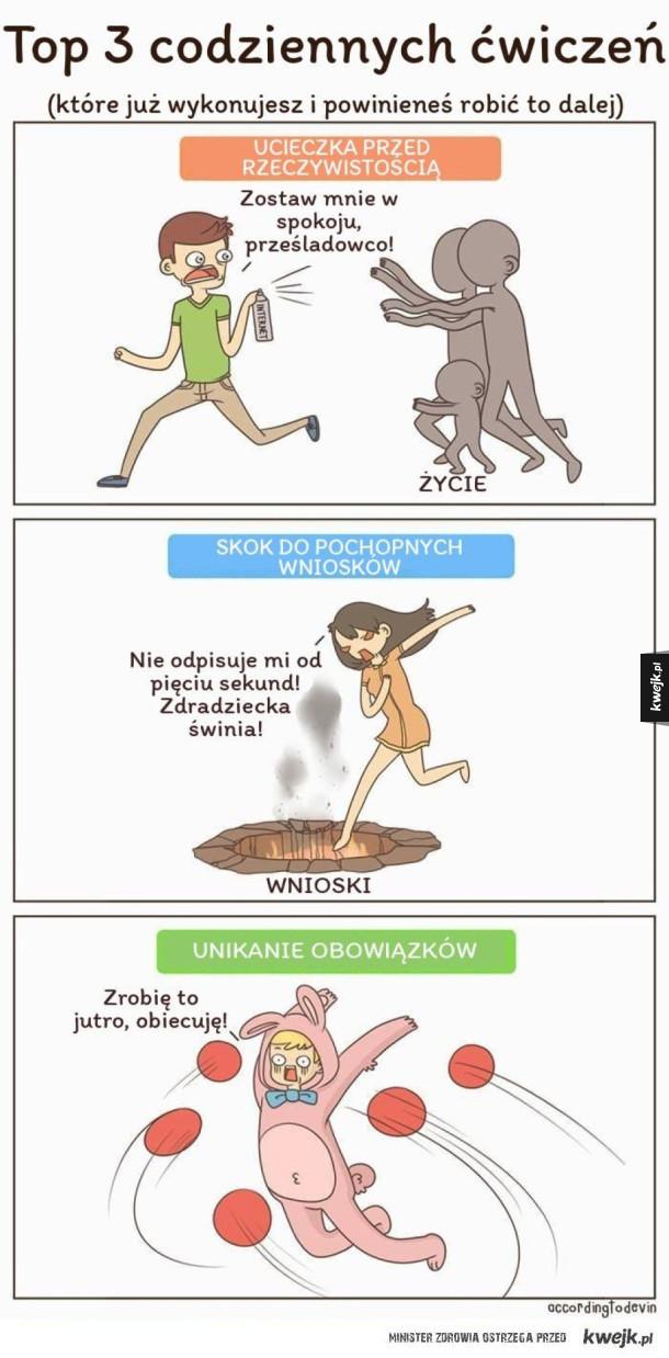 Codzienne ćwiczenia