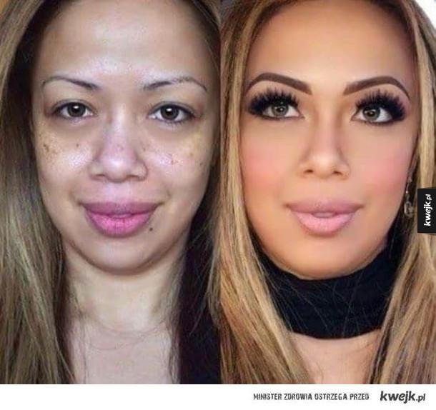 Zdjęcia, które ukazują prawdziwą moc makijażu