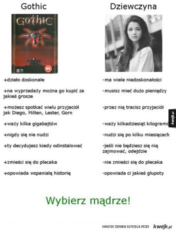 Gothic vs. dziewczyna