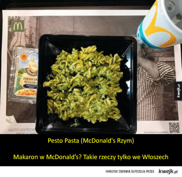 Nietypowe dania z McDonald's na całym świecie