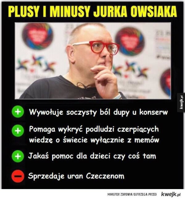 Plusy i minusy Jurka