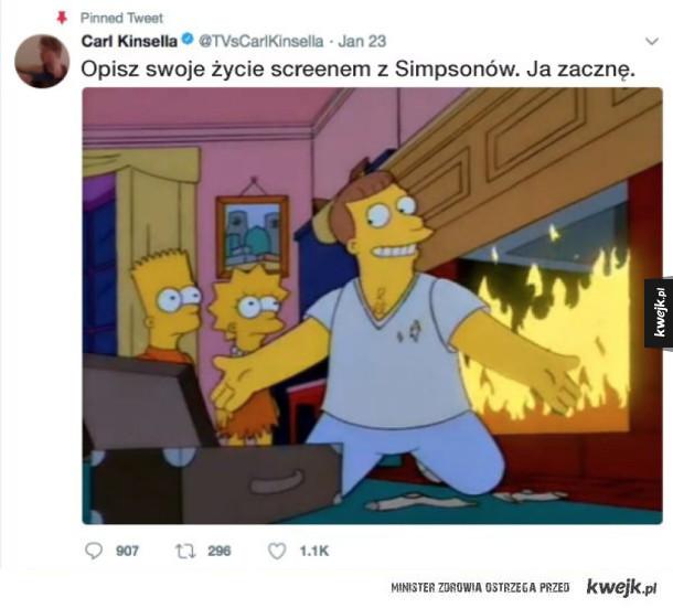 """Screeny z """"Simpsonów"""", które idealnie opisują życie"""
