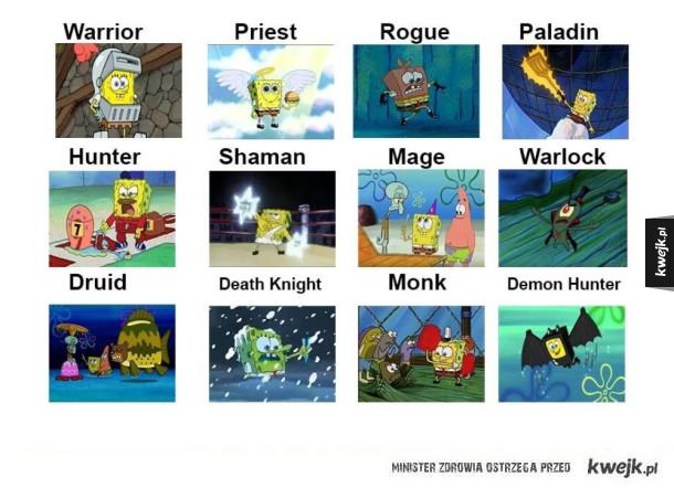 Klasy postaci w grze World Of Warcraft