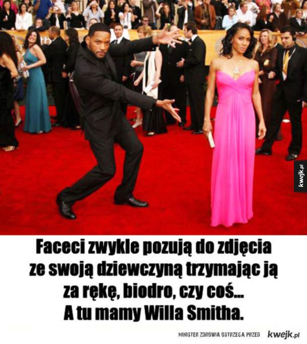 Jak Will Smith pozuje z żoną do zdjęć