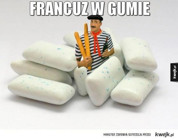 Francuz w gumie