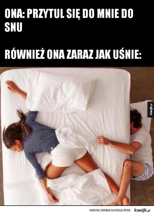 Spanie z dziewczyną takie jest