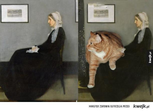 Słynne obrazy z tłustym rudym kotem w roli głównej