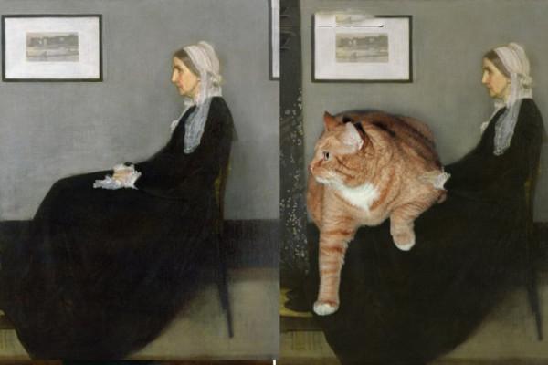 Słynne obrazy z tłustym rudym kotem w roli głównej obrazek 1