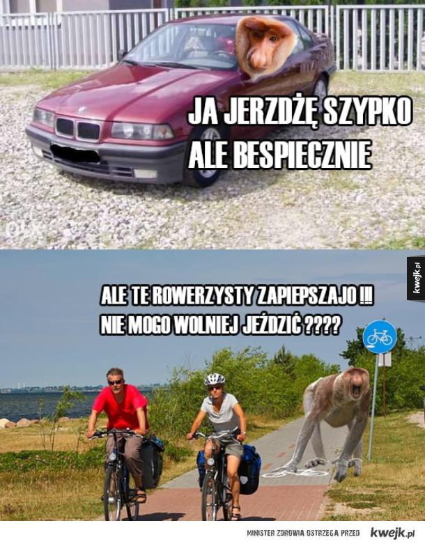 Głupi rowerzyści