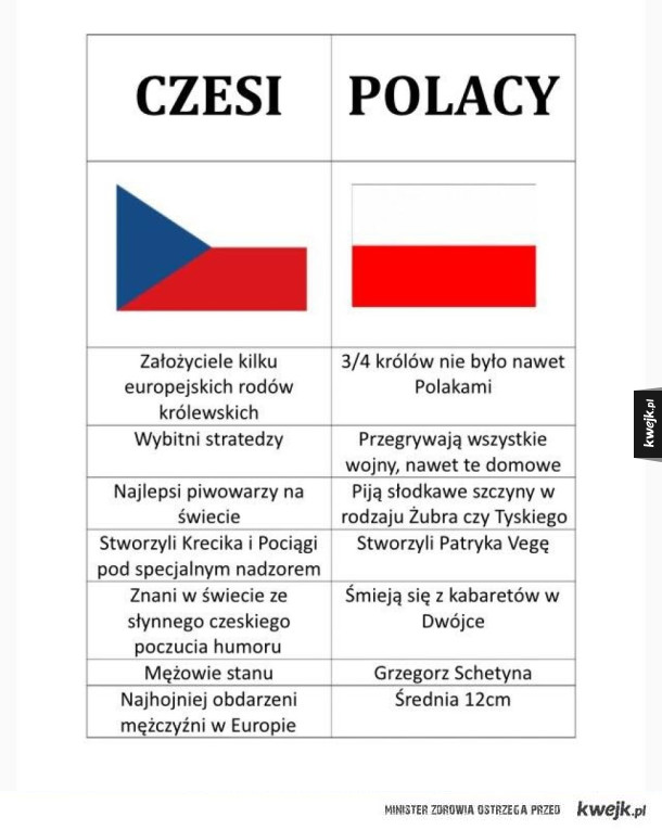 Czesi vs polacy