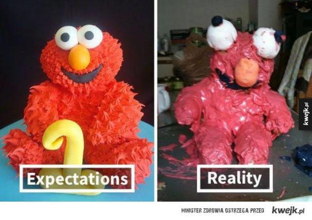 Gotowanie - oczekiwania vs rzeczywistość