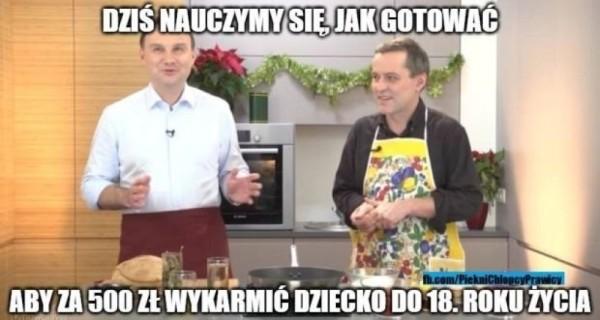 Dudeł uczy gotować