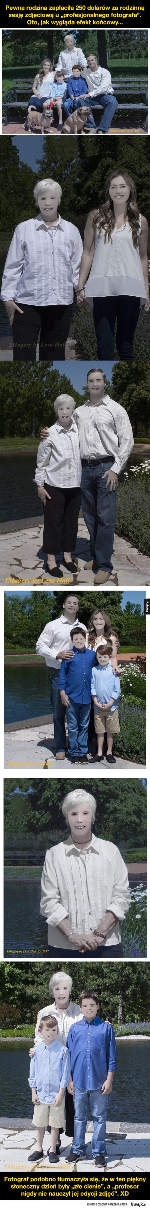 Wspaniała sesja zdjęciowa pewnej rodziny