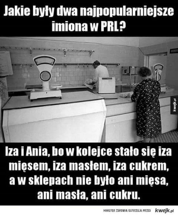 Najpopularniejsze imiona w PRL