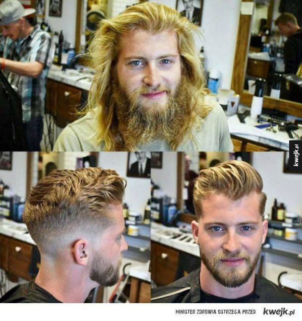 Na niektórych mężczyzn wizyta u fryzjera działa jak operacja plastyczna!