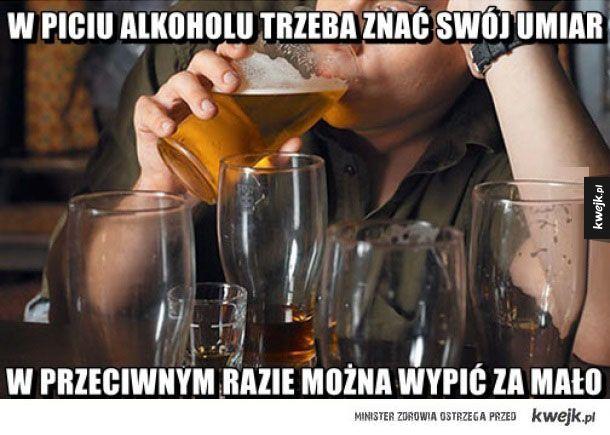W piciu alkoholu