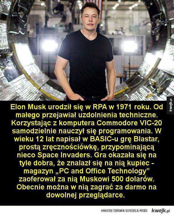 Kim jest Elon Musk, twórca PayPala, Tesli i SpaceX, który wystrzelił swój samochód w kosmos