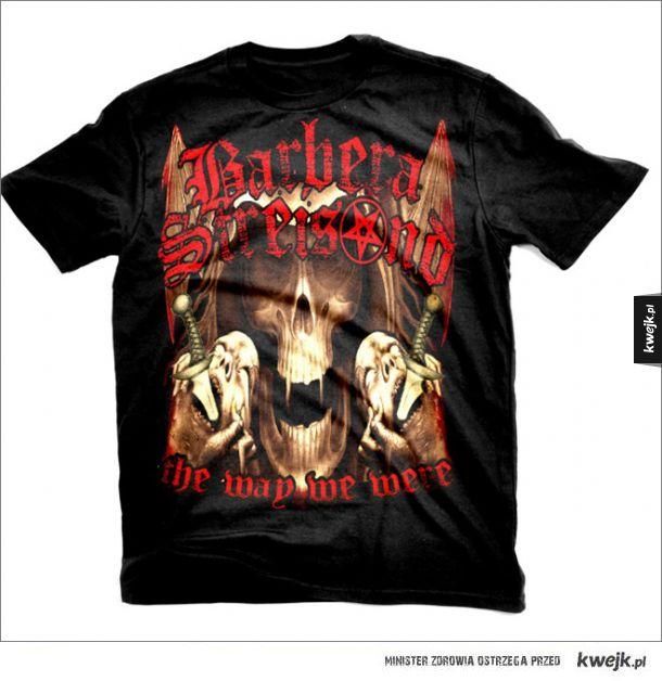 """""""Metalowe"""" aranżacje koszulek popowych wykonawców"""