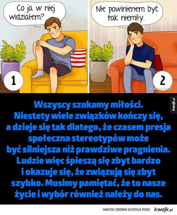 Przy pomocą tych ilustracji psycholog wyjaśnia, dlaczego późniejsze małżeństwa są szczęśliwsze niż te wczesne