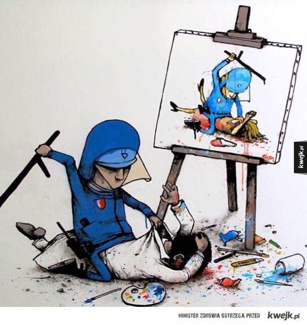 Obraz współczesnego świata na grafikach autorstwa Drana