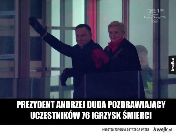 Prezydent pozdrawia