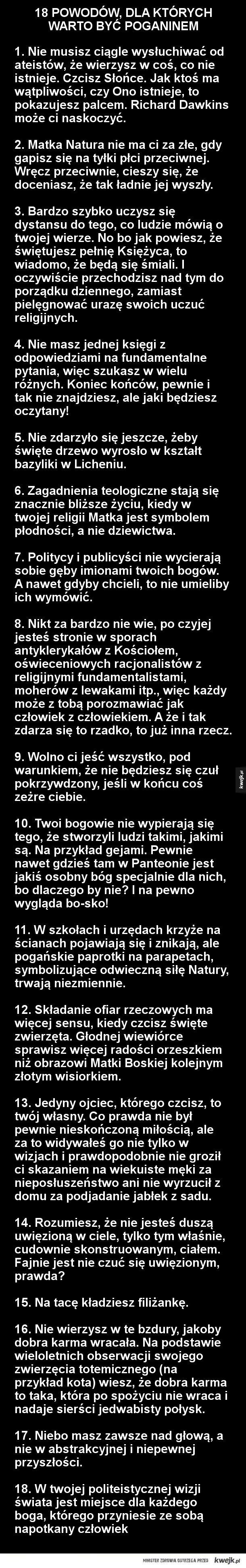 18 powodów, dla których warto być poganinem