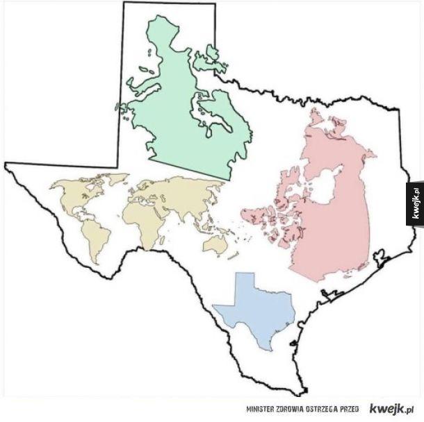 Jak wielki naprawdę jest Teksas?