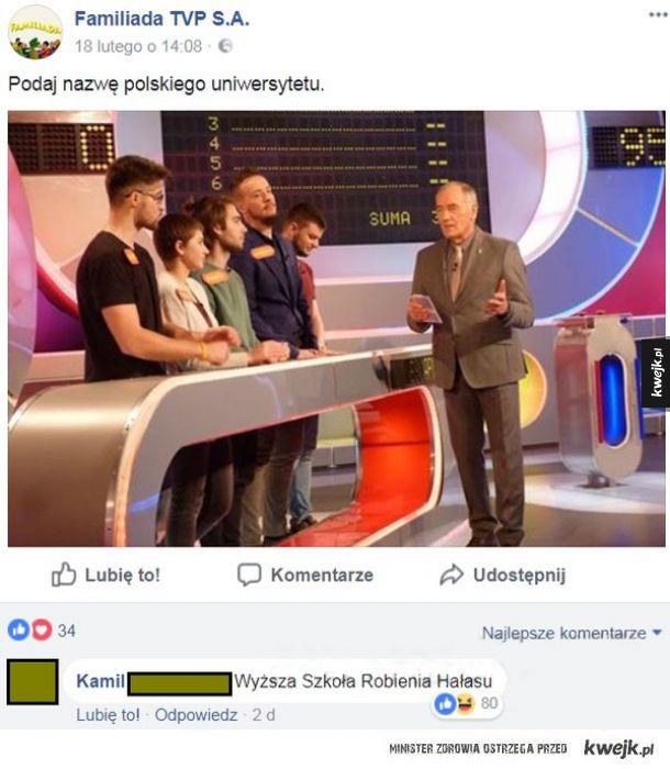 Podaj nazwę polskiego uniwersytetu