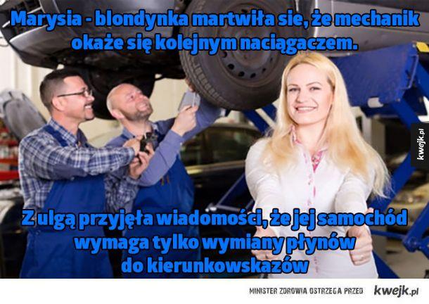 Biedna blondynka