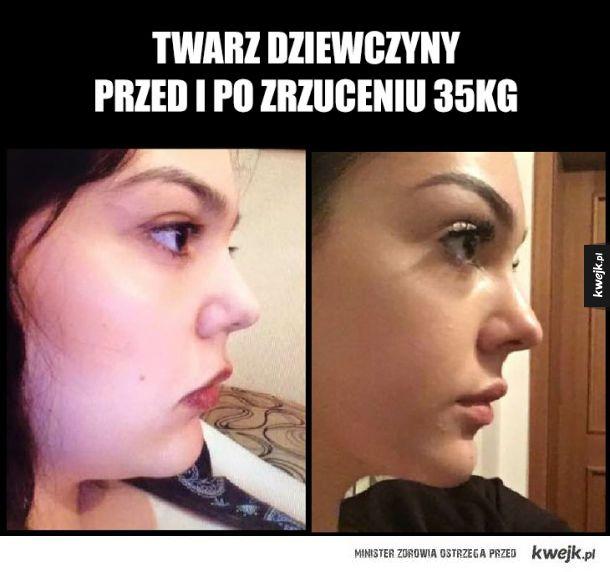 Przed i po zrzuceniu 35kg