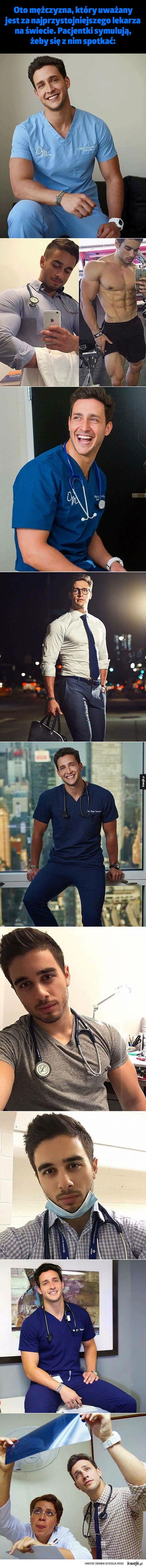 Oto mężczyzna, który uważany jest za najprzystojniejszego lekarza