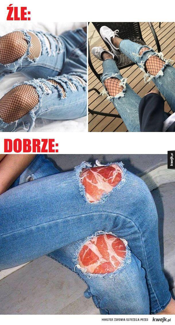Jak nosić spodnie z dziurami