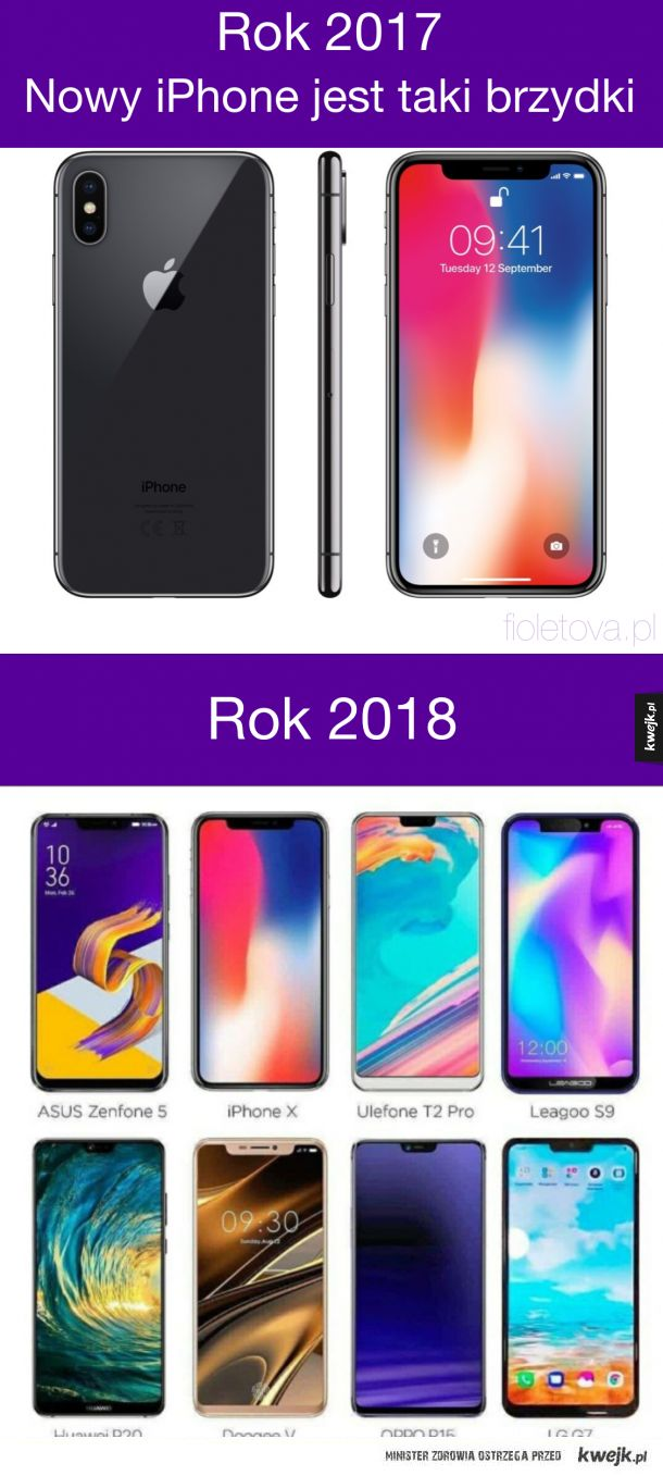 iPhone taki brzydki