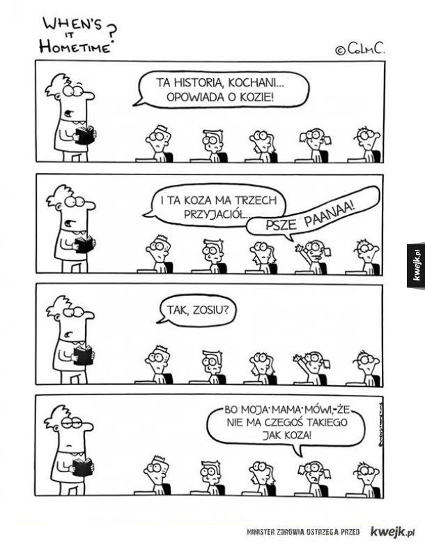 Komiksy o życiu nauczyciela