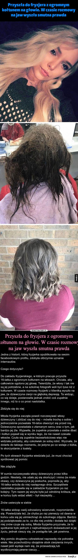 Przyszła do fryzjera z ogromnym kołtunem na głowie