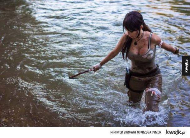 Cosplaye Lary Croft są osobną kategorią seksowności