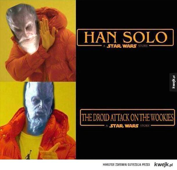 What about the droid attack on the wookies?