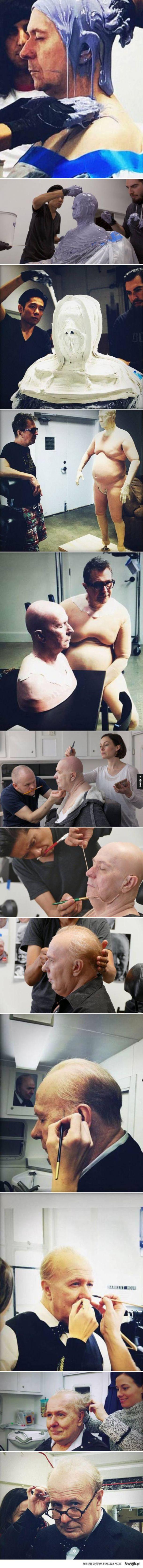 Niesamowita transformacja Gary'ego Oldmana do roli Winstona Churchilla