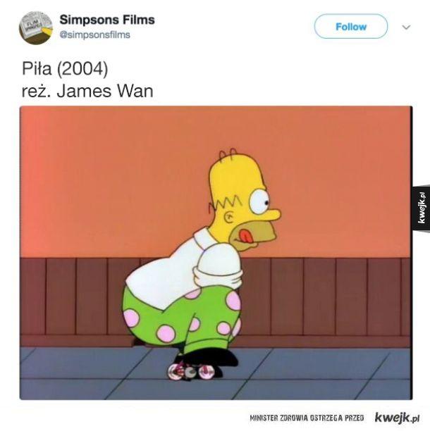 Screeny z Simpsonów przedstawiające (prawie) każdy film