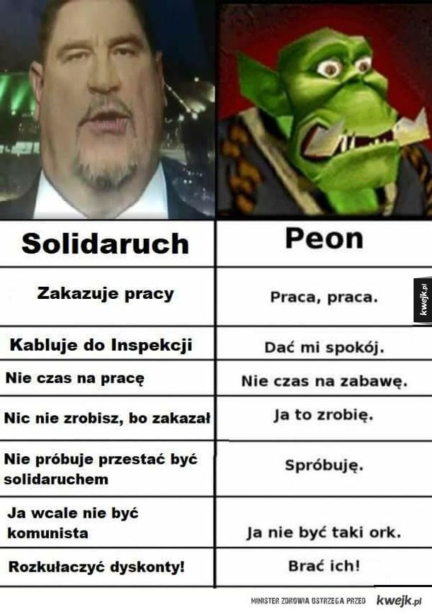 Solidaruch vs. peon