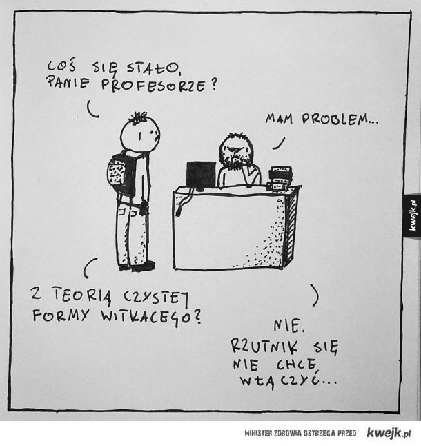 Profesor ma problem