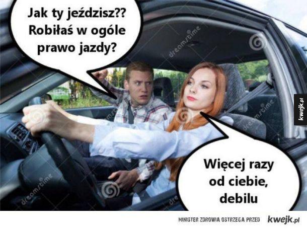 Robiła w ogóle prawo jazdy
